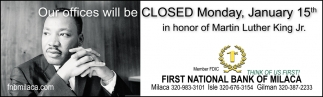 First National Bank Of Milaca
