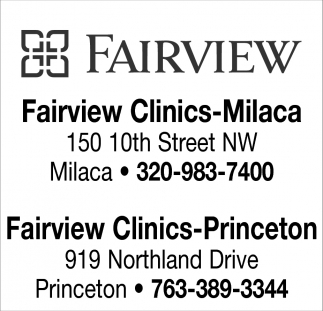FAIRVIEW NORTHLAND CLINIC