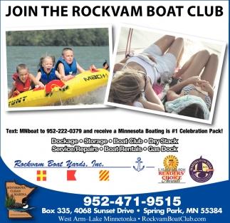 JOIN THE ROCKVAM BOAT CLUB