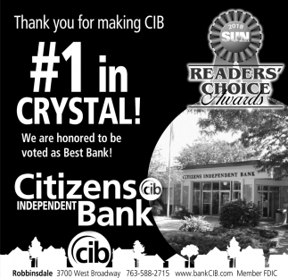 Thank you for making CIB #1 in Crystal