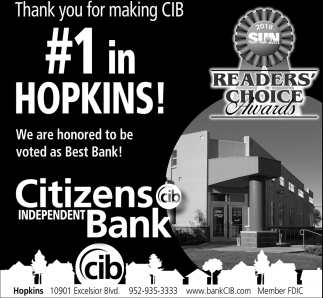 Thank you for making CIB #1 in Hopkins!