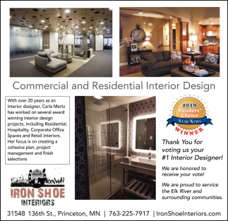 Commercial And Residential Interior Design Iron Shoe Interiors
