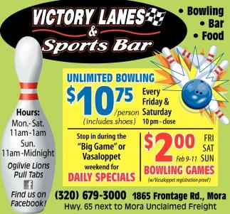 Lanes & Sport Bar, Victory Lanes & Sport Bar, Mora, MN