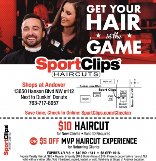Get Your Hair In The Game Sportclips Haircuts Excelsior Mn