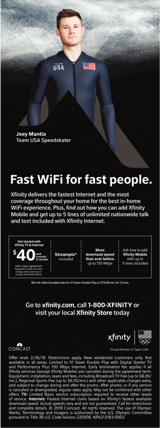 Fast WiFi for fast people.