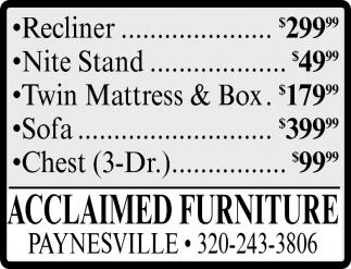 Acclaimed Furniture