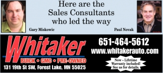 Are The Sales Whitaker Buick Gmc Forest Lake MN - Buick dealerships in minnesota