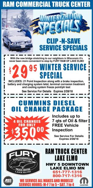 Winterizacion Specials