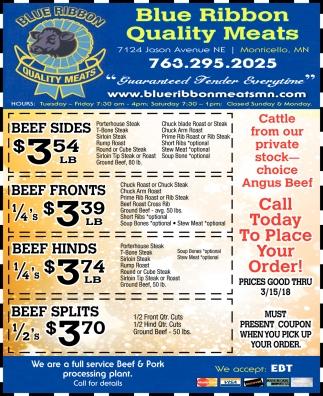Blue Ribbon Quality Meats