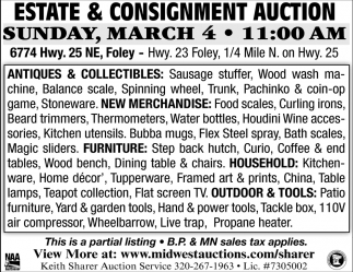 Estate & Consigment Auction