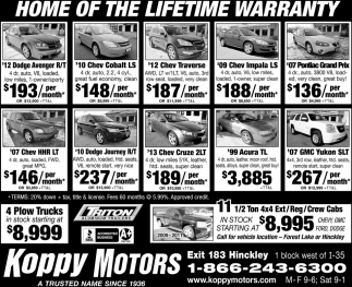 Home Of The Lifetime Warranty