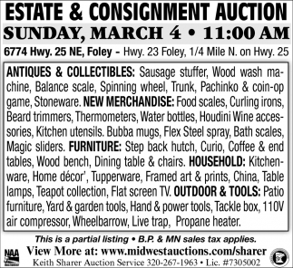 Estate & Consigment Auction