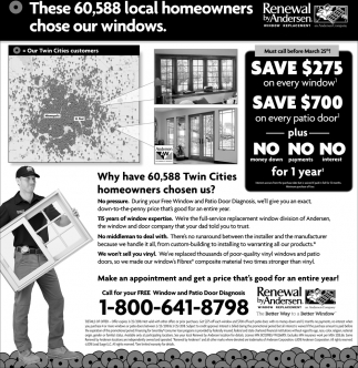 These 60,588 local homeowners chose our windows.