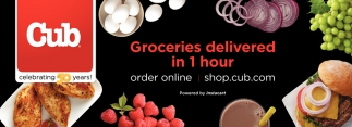 Groceries delivered in 1 hour