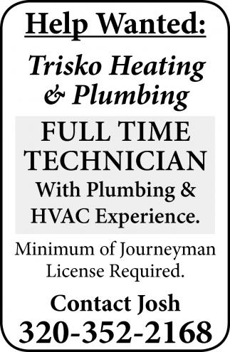 Full Time Technician