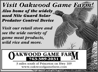 Visit Oakwood game farm