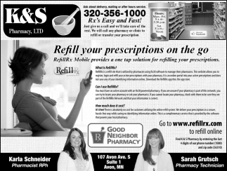 Refill your prescriptions on the go