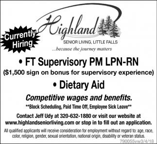 Ft Supervisory PM LPN-RN