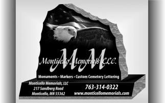 MONTICELLO MEMORIALS