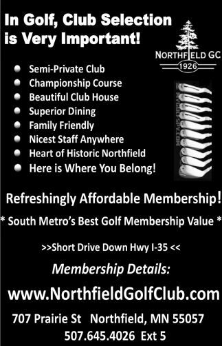 In Golf, Club Selection is very Important!