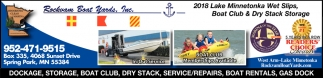 Dockage, Storage, Boat Club, Dry Stack, Service-Repairs, Boat Rentals, Gas Dock