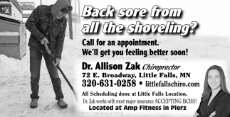 Back sore from all the shoveling?