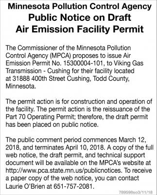 Public Notice on Draft