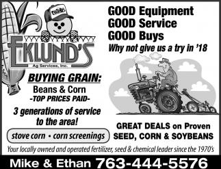 Good Equipment, Good Service, Good Buys