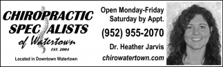 CHIROPRACTIC SPECIALISTS OF WATERTOWN PC