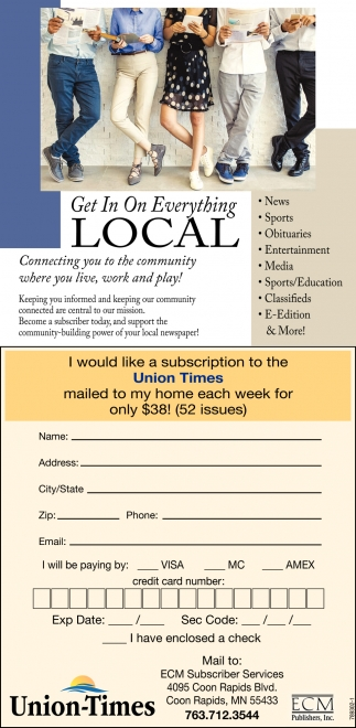 Get in on everything LOCAL