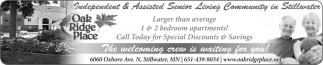 Independent & Assisted Senior Living Community in Stillwater