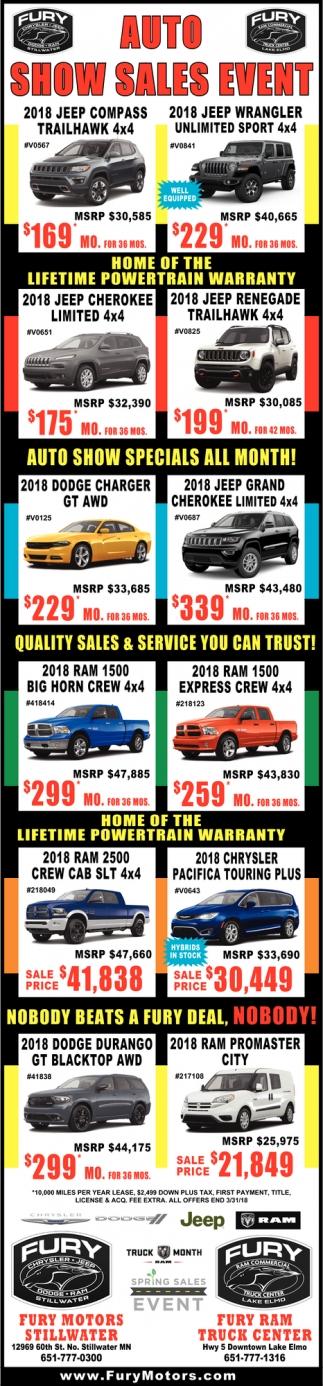 Auto Show Sales Event