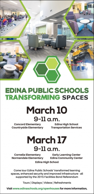 Edina Public Schools Transforming Spaces Edina Public Schools