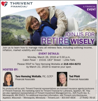 Join us for Retire Wisely