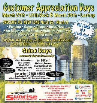 Customer Appretiation Days