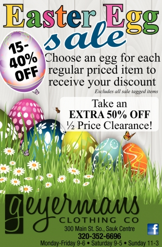Easter Egg sale