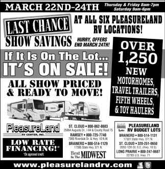 Las Chance Show Savings