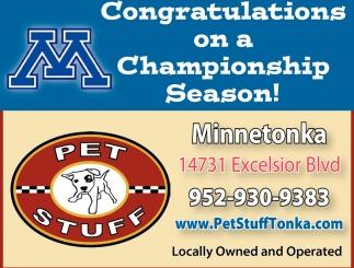 Congratulations on a Championship Season!