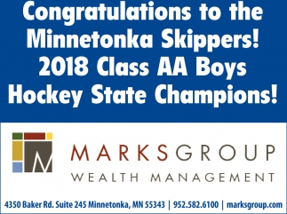 Congratulations to the Minnetonka Skippers