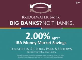 Big Banks? No thanks.