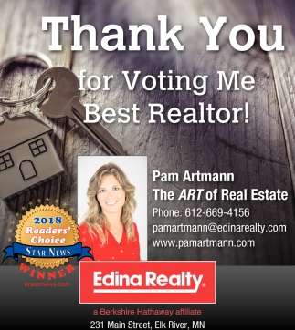 Thank You for Voting me Best Realtor!