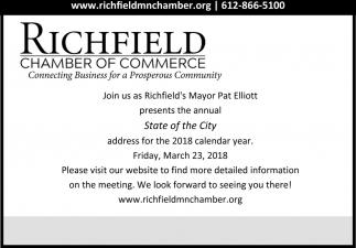 Join us as Richfield's Mayor Pat Elliott