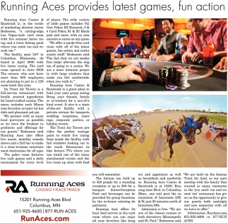 Runninf Aces provides latest games, fun action