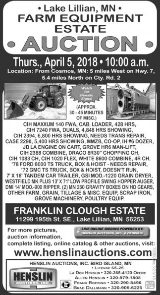 Farm Equipment Estate