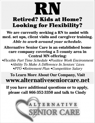 Retired? Kids at home?