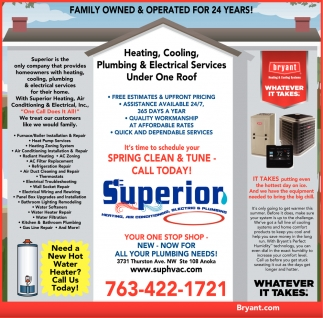 Family Owned & Operated for 24 Years, Superior Heating And