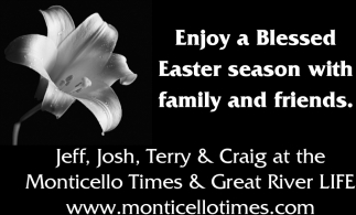 Enjoy a Blessed Easter season with family and friends