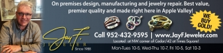 On Premises design, manufacturing and jewelry repair