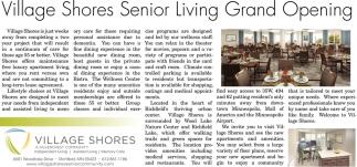 Village Shores Senior Living Grand Opening
