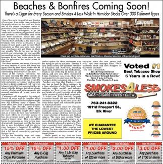 Beaches & Bonfires Coming Soon!